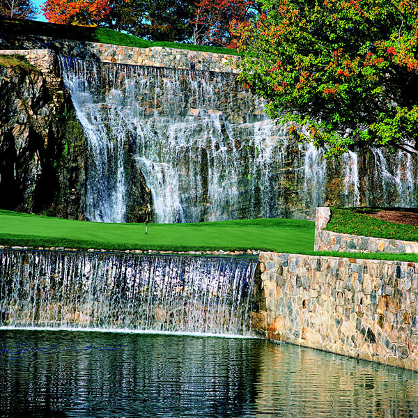 Trump National Golf Club, Westchester                       Briarcliff Manor, N.Y.                                              OPENED 2002                       ARCHITECT Jim Fazio                       PAR 72 (7,361 yards)                       INITIATION FEE $350,000                       ANNUAL DUES $18,000                       MEMBERS 250                       RANKING Unranked                       Most members, whose numbers include presidential candidate Rudy Giuliani, take a cart and a caddie. There is a swimming pool, tennis courts and a fitness center. The food is hearty, and there's a wedding almost every                       weekend. This is where Trump plays most. He has a 250-acre estate nearby.