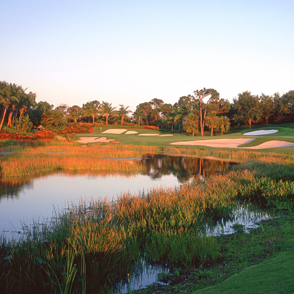 Trump International Golf Club, West Palm Beach, Fla.                                              OPENED 1999                       ARCHITECT Jim Fazio                       PAR 72 (7,300 yards)                       INITIATION FEE $450,000                       ANNUAL DUES $18,000                       MEMBERS 321                       RANKING Golf Magazine Top 100 in U.S. (71st)                                              Home of the LPGA's ADT Championship. Trump converted a dead-flat piece                       of land into one of the hilliest properties in South Florida. Trump is there most weekends from Thanksgiving to Memorial Day.