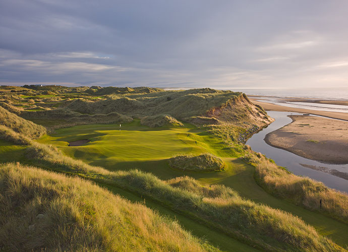 2. Trump International Golf Links, Aberdeeen                       At more than 7,400 yards, it boasts the brawn to demand clutch power and placement from today's breed of pros. It sports the tallest dunes in Scotland and outstanding sea views, making for spectacular television. It dishes out a quartet of rugged, bunker-strewn par-5s. And yes, it would deliver The Donald, making for off-the-charts publicity.