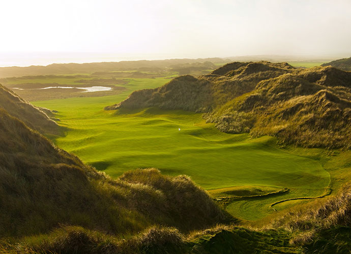 Trump International Golf Links Scotland, Aberdeen [011-44-1358-743300, trumpgolfscotland.com]: Ranked No. 50 in the world in its initial year of eligibility, 2012's Best New International Course of the Year is a Martin Hawtree creation -- with plenty of input from the course's namesake, Donald Trump -- that boasts massive sand dunes, stunning North Sea views and a combination of aesthetics and challenge that has no equal in links golf.