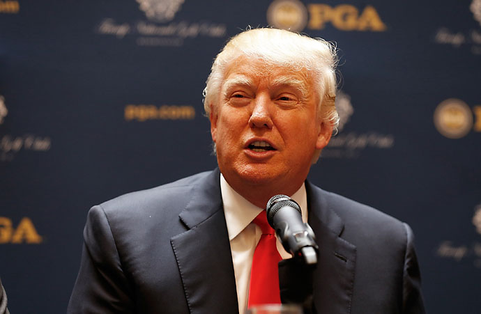 """We're bringing the game down with these 15-inch holes and 'let's play soccer golf.' Golf should be an aspirational game. We should keep it a high level and not bring it down because a group of people want to sell some more golf clubs or golf balls.""                       --Donald Trump on why golf shouldn't change to attract new players."