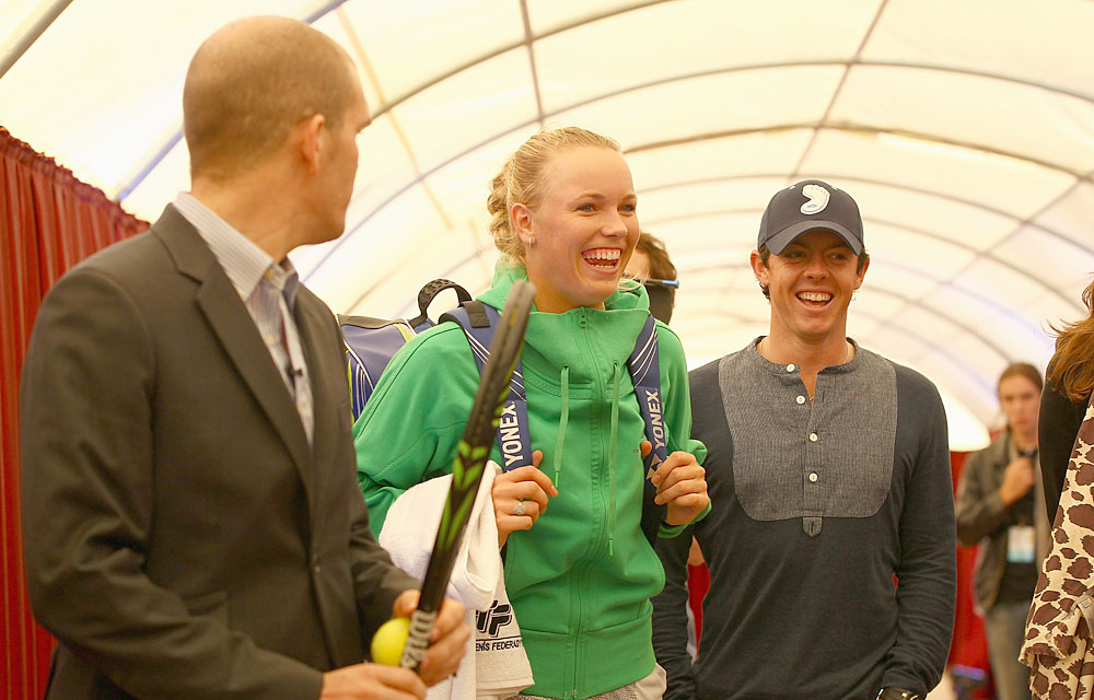 Oct. 22, 2011: McIlroy stopped in Istanbul, Turkey, to watch Wozniacki at the WTA Championships.
