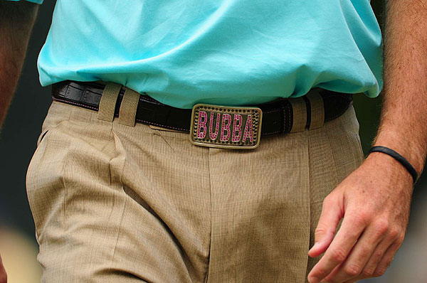 No worries, Bubba Watson. We're partial to a belt already in your wardrobe. But you really need to work on the spelling.                       BubbaWatson Just when shopping at mall!!! Wasted to much money in there. Went in for belt. Came out with more and no belt!! Your welcome (3:27 p.m. Nov. 1)