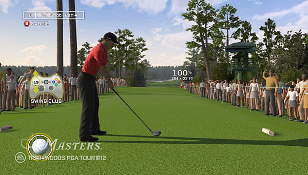 In the all-new Tiger at the Masters mode, relive each of Tiger's four wins at the Masters by attempting to equal or beat his scores in each round of the Tournament.