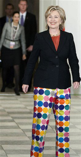 PGA_JohnDaly followin the news tonight and Hillary Clinton just arrived here does her agenda include the Sony Open & if she'd wear a Loudmouth Skort? (3:05 a.m. Jan. 12)                       Hey, you never know.