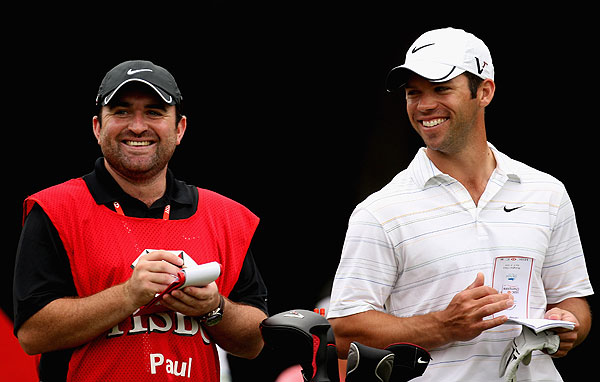 Paul_Casey Caddies + free beer = someone is getting a wrong yardage tomorrow. (9:12 a.m. Nov. 6th)                       Lucky for Casey, his caddie looked in tip-top shape the next day.