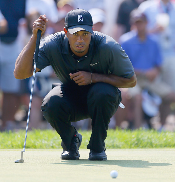 "Woods continued to struggle with his putting. ""Generally, I was a decent putter over the years, but lately it's been very streaky. I'm making everything or I make nothing."""