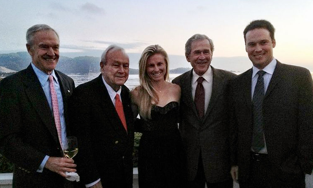 @RyannOToole: First Tee dinner party along with my dates. Brad Freeman, Arnold Palmer, Pres.George Bush and Brad Shaw