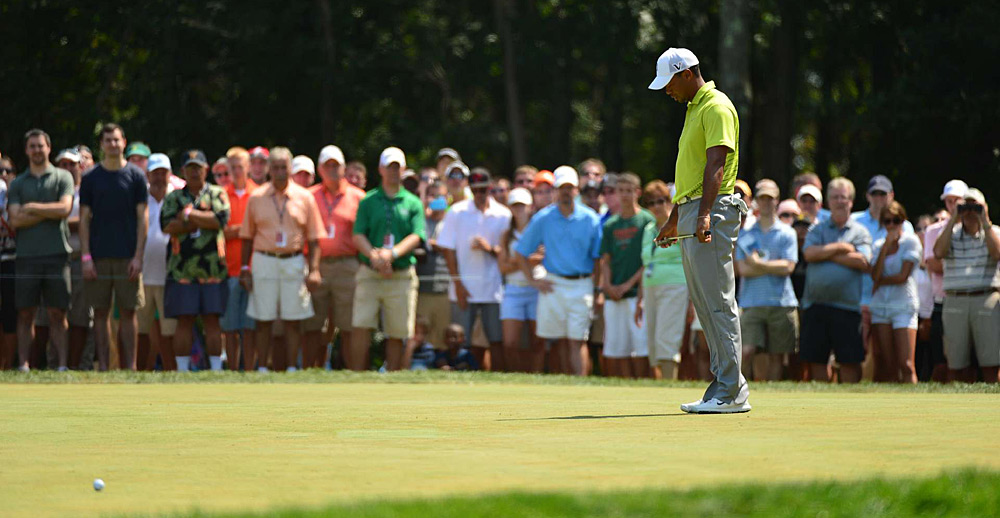 """I played the round that I needed to play,"" Woods said. ""Unfortunately, I didn't putt the way I needed to putt."""