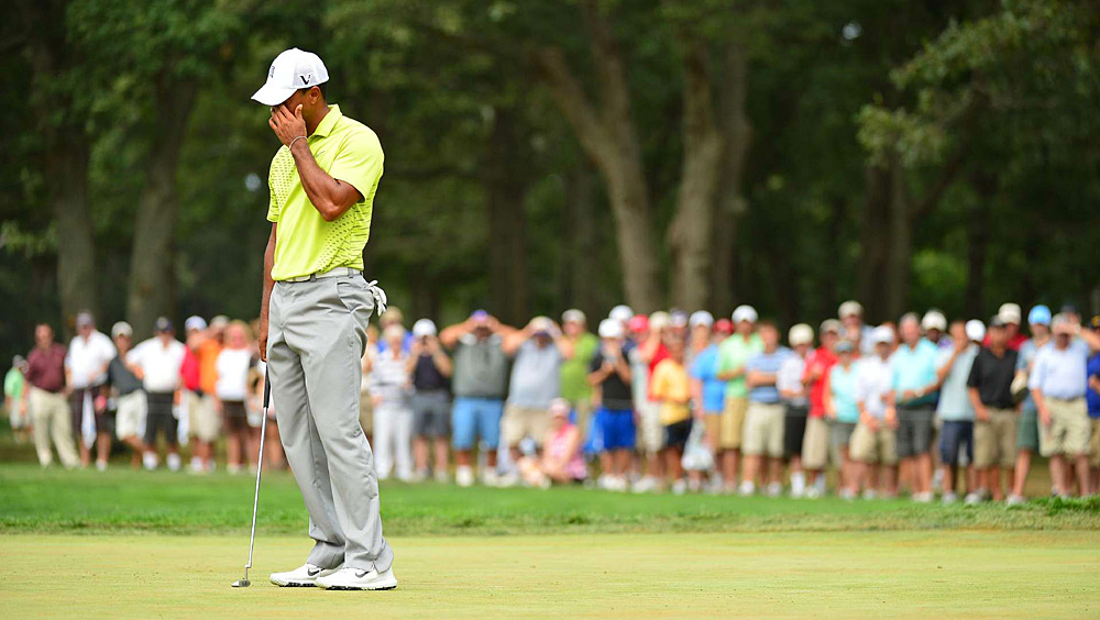 Woods, however, struggled with his putting. For the first time in his career, he three-putted four greens.
