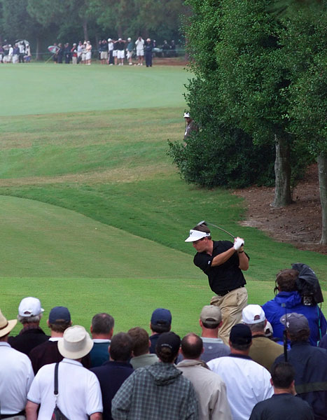 In 1999 at Pinehurst No. 2, Mickelson was near the top of the leaderboard.