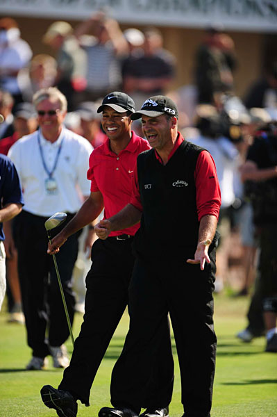 "The veteran PGA Tour pro who battled Woods over 91 holes at the 2008 U.S. Open believes Woods will once again rise to the No. 1 ranking.                     ""If he gets his golf swing back, that game's over,"" Mediate said. ""Because he knows that once he figures out where his ball is going, it's over. He's already proved it a million - how many times? - 71 times, and 14 majors.                                          ""If he can find his ball again, if he gets that club up where it belongs, trust me. He's not done yet."""