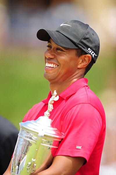 Tiger's Victory at the U.S. Open                     Tiger Woods won his 14th major championship on Monday at Torrey Pines when he outlasted Rocco Mediate on the 91st hole of play.