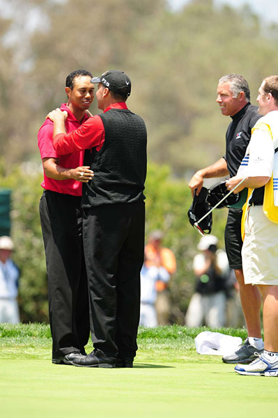 Mediate missed a par putt on the seventh green that would have kept him alive in the playoff. Woods won his 14th major and third U.S. Open.