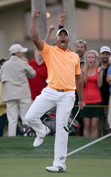 Jhonattan Vegas is simply known as Jhonny Vegas after his whirlwind rookie year that saw him win his fifth Tour start and become the first player from Venezuela to win on the PGA Tour.