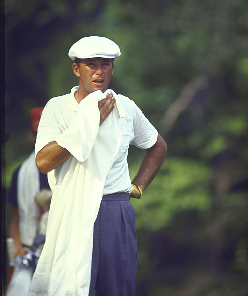 """Ken Venturi, 1964 U.S. Open                       On Sunday at the 1964 U.S. Open, Venturi suffered while playing 36 holes in 100-degree heat. Exhausted after his first 18, he was advised by a doctor not to continue, but he played on, taking 12 salt tablets along the way and eventually winning by four shots. Sports Illustrated described Venturi as """"staggering but relentless."""""""