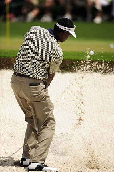 Vijay Singh, the 2000 Masters champion, is three under.