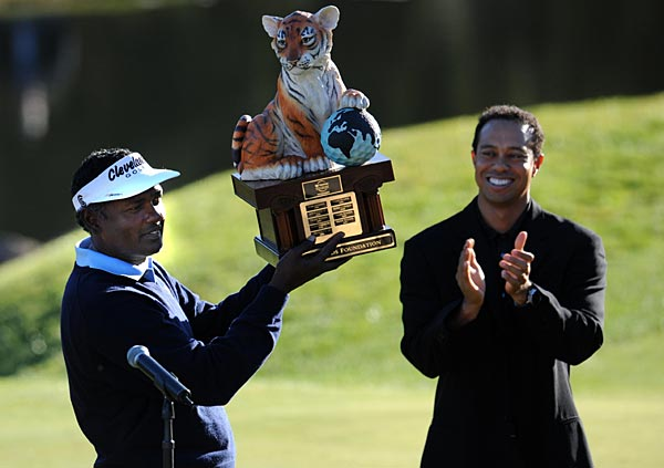 2008 Chevron World Challenge                       Age is starting to creep up on Vijay Singh, who turns 46 in February and spent the last three months on hiatus to let nagging injuries heal. But he was good as new at the Chevron, making a 10-foot birdie putt on the final hole for a one-shot victory over Steve Stricker.
