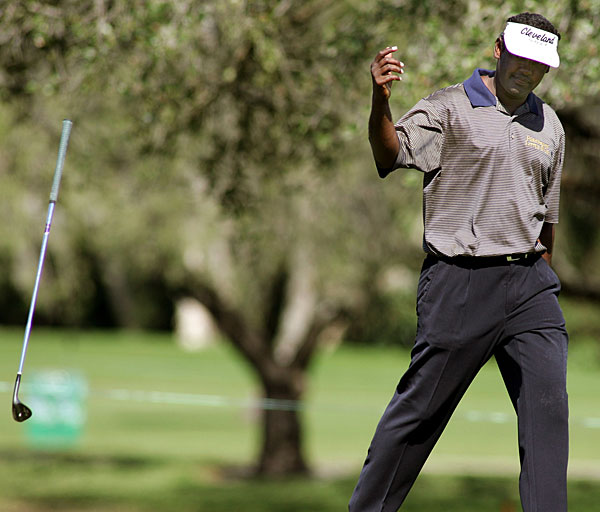 Vijay Singh normally doesn't show much emotion on the course, but he certainly did at the 2005 Ford Championship at Doral.