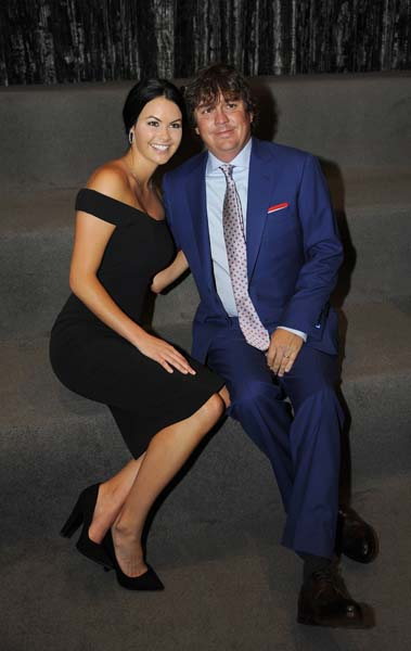 Jason and Amanda Dufner at the Presidents Cup opening ceremonies.