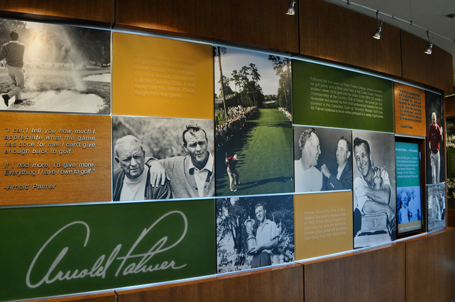 Photos and memorabilia from Palmer's life are on display throughout the hotel.