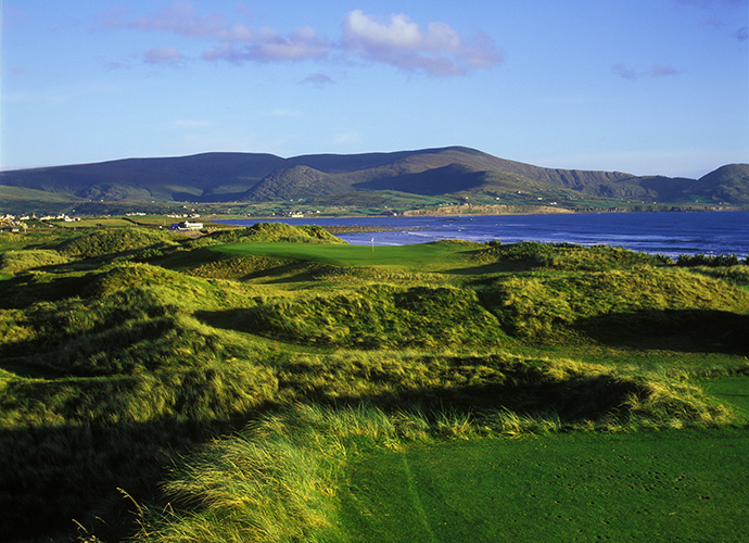 "Waterville Golf Links, Waterville, Co. Kerry: Sam Senad called Waterville a ""magnificent monster."" Raymond Floyd had a softer assessment, stating that Waterville is ""one of the most beautiful places I've ever seen."" They're both right. Its slithering par-5 11th, hemmed in by dune ridges and its seaside par-3 17th, with a back tee and green isolated by dense vegetation and backdropped by MacGillycuddy's Reeks, are two world-class stunners. ($83-$236; 011 353 66 947 4102, watervillegolflinks.ie)"