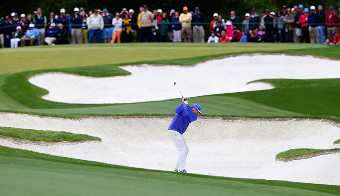 Watney made five birdies, two bogeys and a double bogey.
