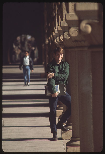 Tom Watson at Stanford in January 1970.