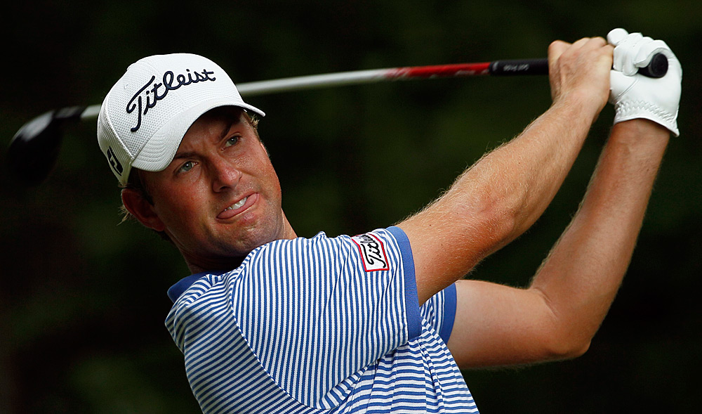 Webb Simpson made two bogeys on the back nine for a one-over 71.