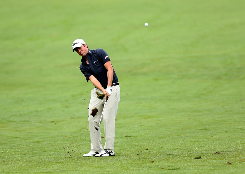Webb Simpson was in the hunt until a triple bogey on the 18th hole.