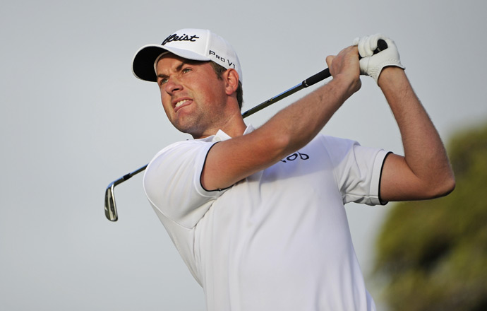 U.S. Open champion Webb Simpson made three birdies and two bogeys for a 69.