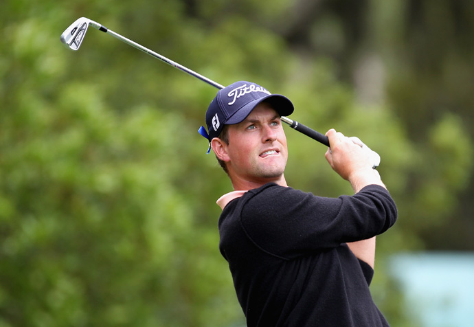 Webb Simpson shot a six-under 65 to move into second place.