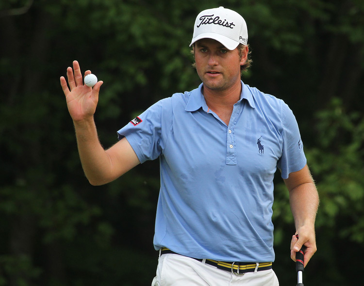 Webb Simpson is only four shots back after a one-under 69.