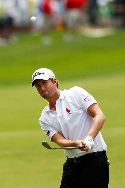 Webb Simpson scored a four-under 68 with the help of five birdies.