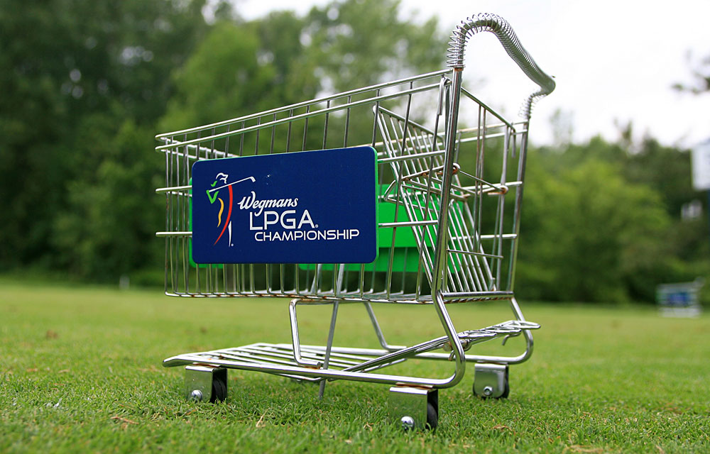 At last year's LPGA Championship, Wegmans went with shopping carts.