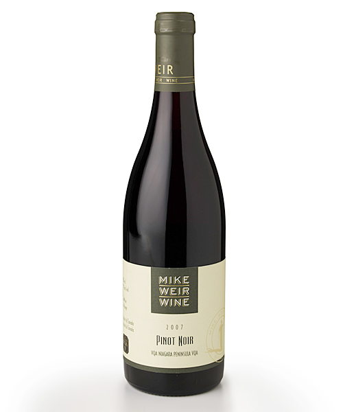 Duffy's rating: * *                   Mike Weir Wines are value priced and offer a chance to try wine from Canada's Niagara Peninsula. All proceeds from his wine goes to the Mike Weir Charitable Foundation. His Pinot Noir is lacking in fruit with an astringent finish.