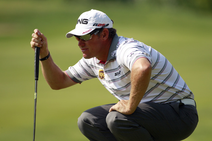 Lee Westwood made four bogeys and a birdie for a 73.