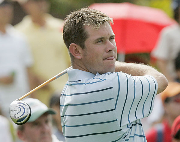 Lee Westwood is one of many Europeans who have sported blonde locks over the years.