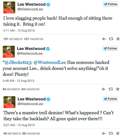 "Lee makes a fatal mistake here. A follower says ""drink doesn't solve anything,"" and Westwood follows with a ""oh it does! Plenty!""                       It suddenly all makes sense."
