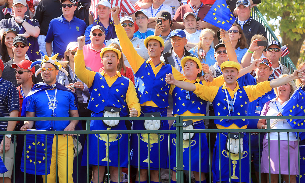 These fans went for European Union-inspired kilts.