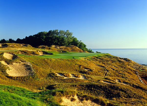"Whistling Straits (Straits course), Haven, Wisc.                     Herb Kohler gave Pete Dye a directive as to his proposed new course alongside Lake Michigan: ""I want it to look like Ireland."" However, Dye's starting canvas was startling. It was an old army base, which required the removal of concrete bunkers, an airstrip and underground fuel storage tanks, along with toxic waste that had accumulated over the years. Master magician that he is, Dye complied, building a heaving, wild links that sits high above the lake, with tufted mounds and nightmarish sand pits — in other words, it resembles the real thing. Two memorable PGA Championships later, the Straits has cemented its place as among the greatest — and most unusual — layouts in golf."