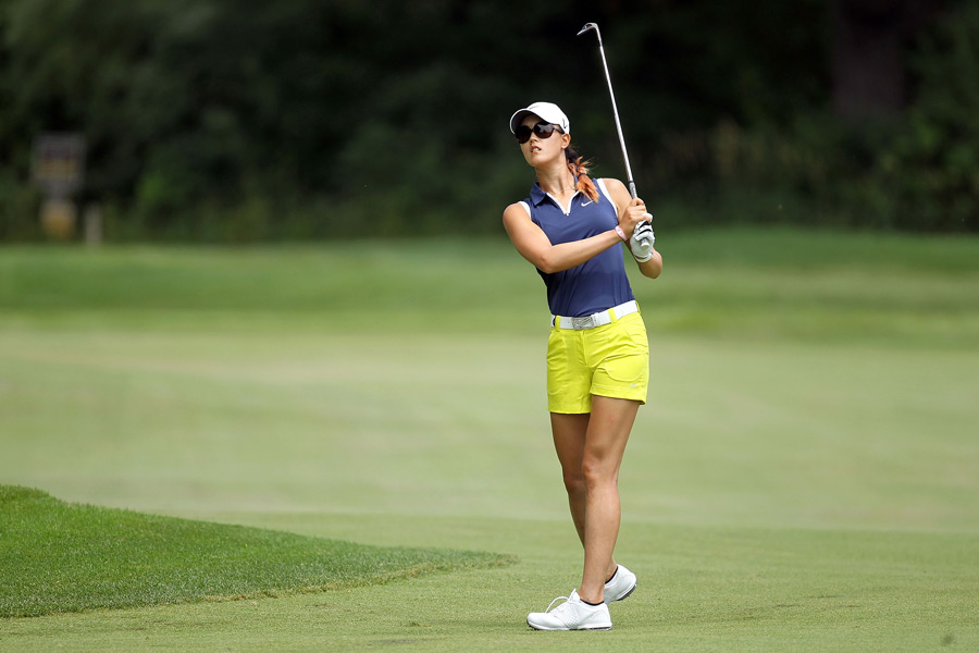 Michelle Wie fell out contention after a 78.