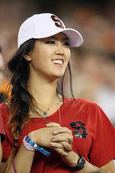 "Wie tweeted before the game, ""LOVING THE SEA OF CARDINAL!!!"""