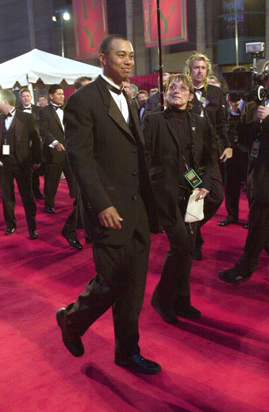 Tiger Woods attended the 2001 ESPY Awards.