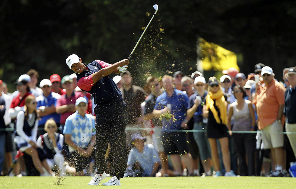 Tiger Woods: B+                       Record: 2-3-0                       Resembled Tiger of old; shaping shots again and, in singles, holing putts. Look out in '12.