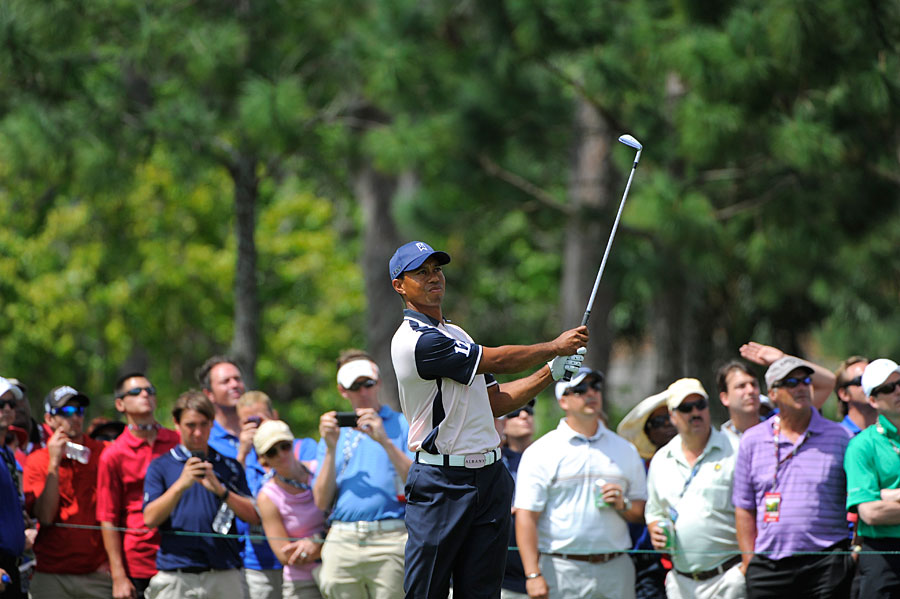 Woods shot even par on Tuesday as his club, Albany, finished in last place. Lake Nona won the Tavistock Cup by two strokes over Isleworth.