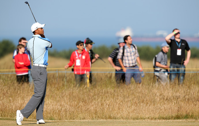 """The golf course is set up perfectly, and really looking forward to it,"" Woods said."