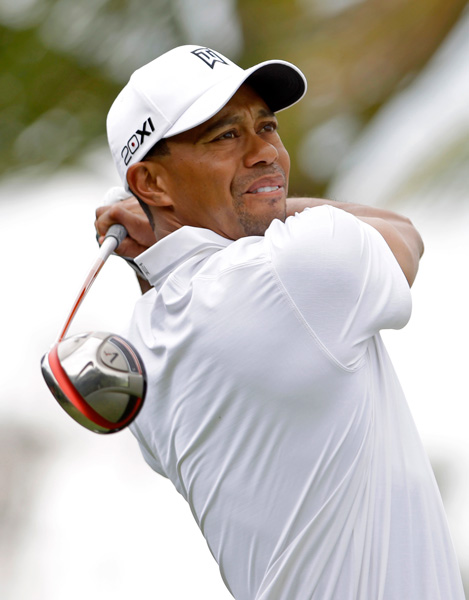 Tiger Woods withdrew from the Cadillac Championship last year after he strained his left Achilles.