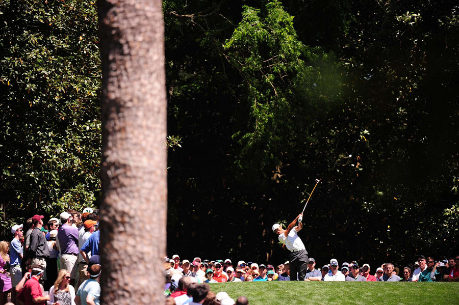 Tiger Woods failed to make a move on Saturday. He finished with a 72.