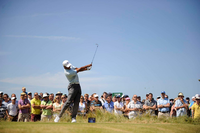 Tiger Woods shot even par on Friday, but he's only one shot off the lead heading into the weekend.